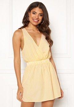 Ivyrevel Wrap Mini Dress Yellow Stripe Bubbleroom.fi