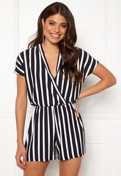 Jacqueline de Yong Alina S/S Playsuit Navy Blazer/Stripes Bubbleroom.fi