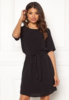 Jacqueline de Yong Amanda 2/4 Belt Dress Black Bubbleroom.fi
