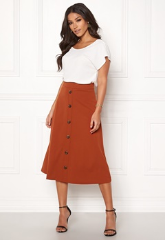 Jacqueline de Yong Bellis Button Skirt Arabian Spice Bubbleroom.fi