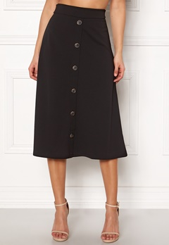 Jacqueline de Yong Bellis Button Skirt Black Bubbleroom.fi