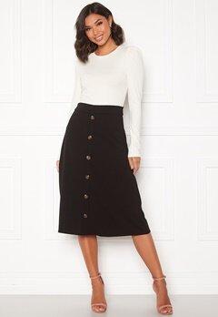 Jacqueline de Yong Bellis Button Skirt Black/Dark wood butt Bubbleroom.fi