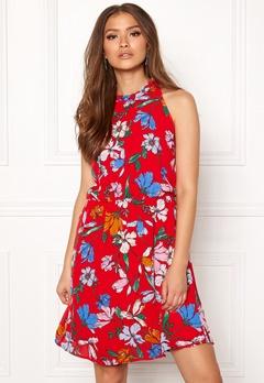 Jacqueline de Yong Chili S/L Dress High Risk Red Bubbleroom.fi