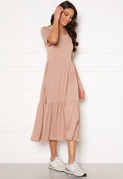 Jacqueline de Yong Dalila Frosty S/S Dress Adobe Rose Bubbleroom.fi