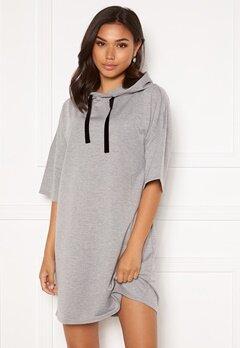 Jacqueline de Yong Dawn 3/4 Hood Sweat Dress Light Grey Melange Bubbleroom.fi