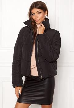 Jacqueline de Yong Erica Short Padded Jacket Black Bubbleroom.fi