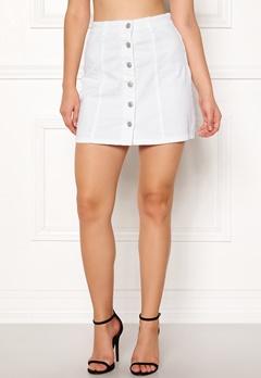 Jacqueline de Yong Five Button Skirt White Bubbleroom.fi