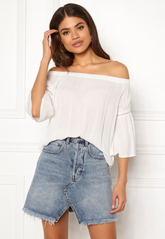 Jacqueline de Yong June 3/4 Offshoulder Top Cloud Dancer Bubbleroom.fi