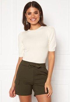 Jacqueline de Yong Lady S/S Pullover Knit Eggnog Bubbleroom.fi