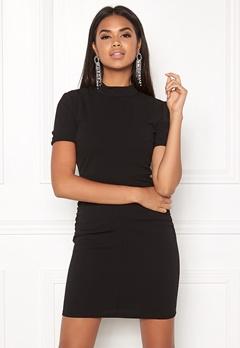 Jacqueline de Yong Lauren S/S Highneck Dress Black Bubbleroom.fi