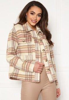 Jacqueline de Yong Loles Check Shirt Jacket Woodrose Bubbleroom.fi