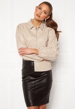 Jacqueline de Yong London L/S Faux Leather Shirt Chateau Gray Bubbleroom.fi