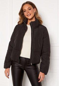 Jacqueline de Yong NewErica Padded Jacket Black Silver zipper Bubbleroom.fi
