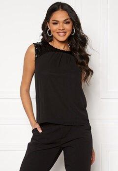 Jacqueline de Yong Otis Upper Sequins Top Black/Sequins Bubbleroom.fi