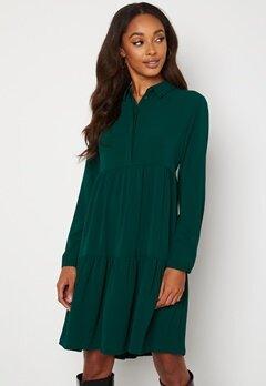 Jacqueline de Yong Piper L/S AOP Shirt Dress Ponderosa Pine Bubbleroom.fi