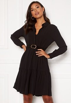 Jacqueline de Yong Piper L/S Shirt Dress Black Bubbleroom.fi