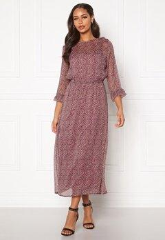 Jacqueline de Yong Sibel 3/4 Ankle Dress Wistful Mauve AOP Bubbleroom.fi