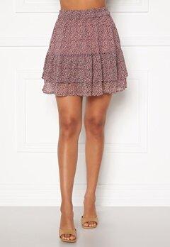 Jacqueline de Yong Sibel Short Skirt Wistful Mauve AOP Bubbleroom.fi
