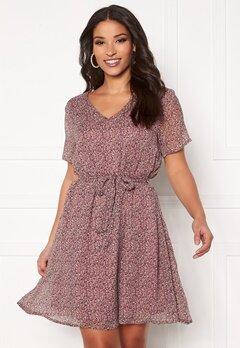 Jacqueline de Yong Sibel S/S Dress Wistful Mauve AOP Bubbleroom.fi