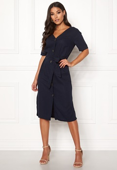 Jacqueline de Yong Sierra Belt Midi Dress Sky Captain Bubbleroom.fi