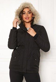 Jacqueline de Yong Star Kia Parka Jacket Black Bubbleroom.fi
