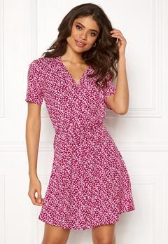 Jacqueline de Yong Star S/S Shirt Dress Cerise Bubbleroom.fi