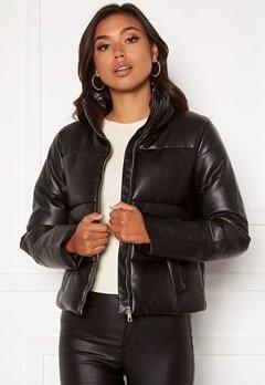 Jacqueline de Yong Trixie Faux Leather Jacket Black Bubbleroom.fi