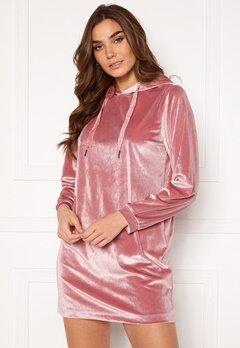 Jacqueline de Yong Velvet Hoodie Dress Mesa Rose Bubbleroom.fi