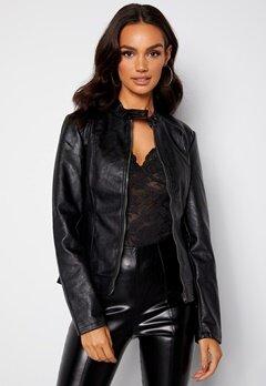 JDY Emily Faux Leather Jacket Black bubbleroom.fi