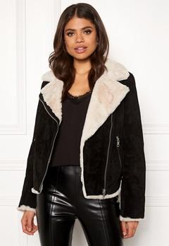 JOFAMA Bella Leather Jacket 00 Black Bubbleroom.fi