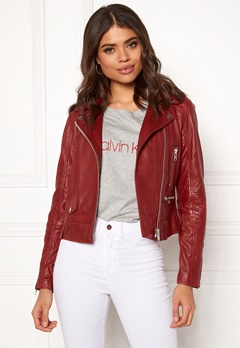 JOFAMA Kajta Leather Jacket 62 Scarlet Bubbleroom.fi