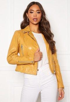 JOFAMA Kajta Leather Jacket Yellow Bubbleroom.fi