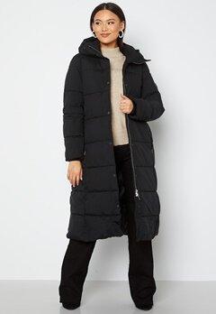 JOFAMA Savannah Long Puffer Coat 00 Black bubbleroom.fi