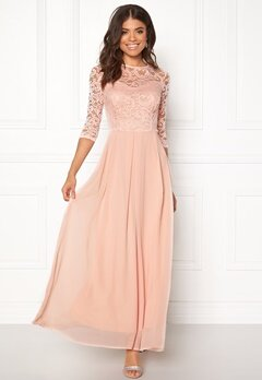 John Zack 3/4 Sleeve Maxi Dress Nude Bubbleroom.fi
