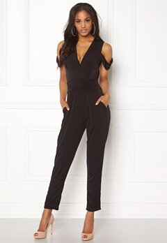 John Zack Cold Shoulder Jumpsuit Black Bubbleroom.fi