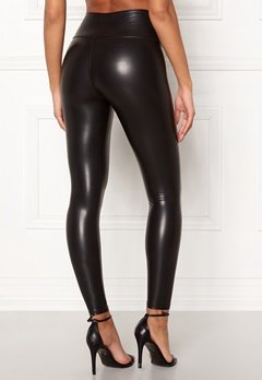 John Zack Faux Leather PU Legging Black Bubbleroom.fi