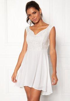 John Zack Lace Bodice H/L Dress White Bubbleroom.fi