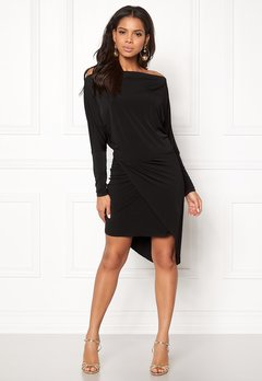 John Zack Off Shoulder Dress Black Bubbleroom.fi
