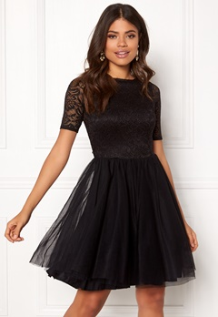 John Zack Open Back Lace Bodice Black Bubbleroom.fi