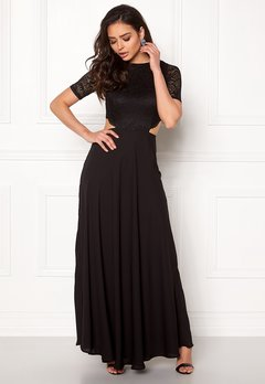 John Zack Open Back Lace Maxi Dress Black Bubbleroom.fi