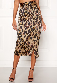 John Zack Wrap Midi Skirt Animal print Bubbleroom.fi