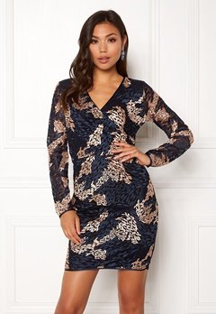 SELECTED FEMME Joye LS Lace Dress Dark Sapphire Bubbleroom.fi