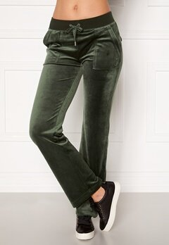 Juicy Couture Del Ray Classic Velour Pant Dark Moss Bubbleroom.fi