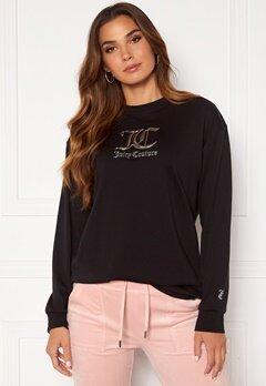 Juicy Couture June L/S Boyfriend T-Shirt Black Bubbleroom.fi