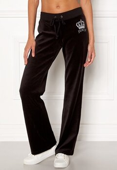 Juicy Couture Luxe Juicy Crown Pant Pitch Black Bubbleroom.fi