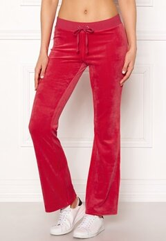 Juicy Couture Luxe Velour Del Rey Pant Cherry Top Bubbleroom.fi