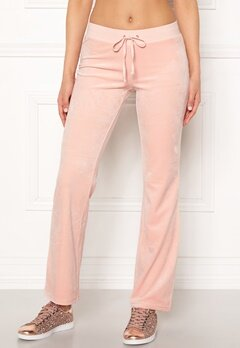 Juicy Couture Luxe Velour Del Rey Pant Pink Shadow Bubbleroom.fi