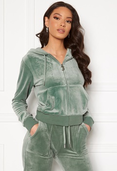 Juicy Couture Robertson Classic Velour Hoodie Chinois Green Bubbleroom.fi