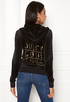 Juicy Couture Stack Velour Robertson Jacket Pitch Black Bubbleroom.fi
