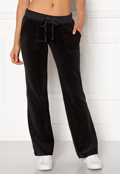 Juicy Couture Velour Del Rey Pant Pitch Black Bubbleroom.fi